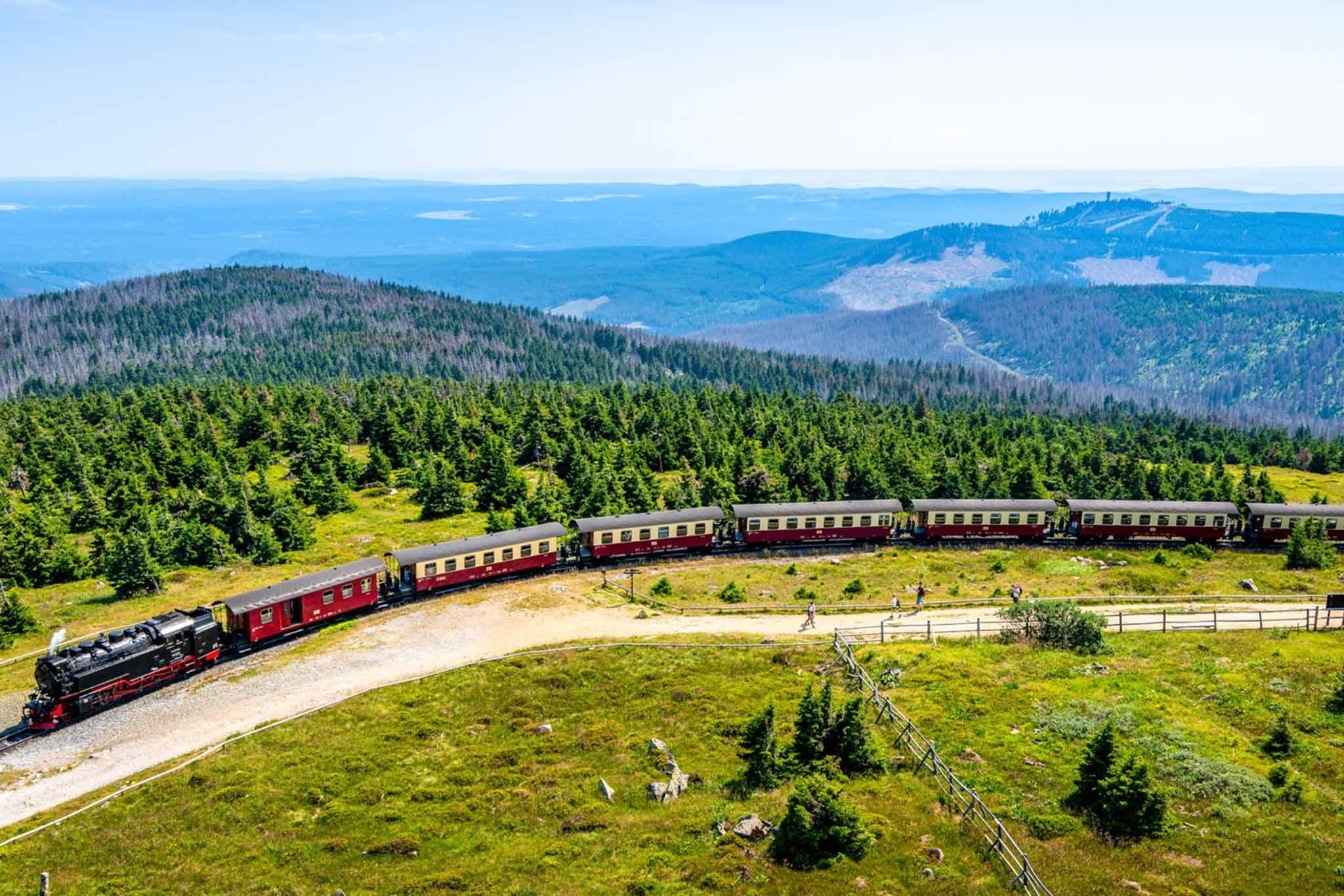 Brockenbahn und Wälder im Harz